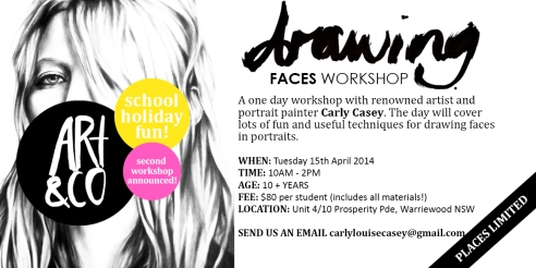 'Drawing Faces' School Holiday Workshop