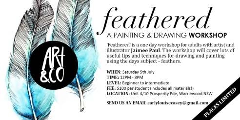 Adults Workshop: Feathered with Artist & Illustrator Jaimee Paul
