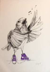This beautiful artwork by one of our students Izzy has been selected as a finalist in the Warringah Art Prize 2014